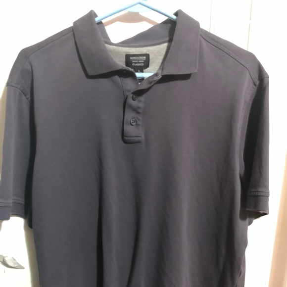 NORDSTROM MENS POLO LARGE GRAY